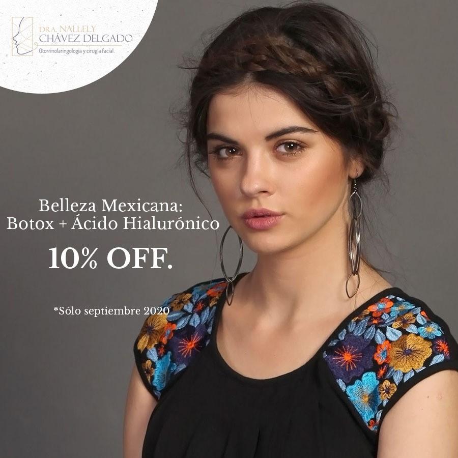 Belleza Mexicana: Botox + Ácido Hialurónico 10% off